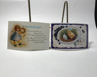 2 Vintage Postcards Lillian Vernon Corp Birthday Wishes Easter Hong Kong