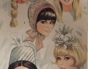 Vintage McCalls 8687 Sewing Pattern Bridal Hat Veil Pattern