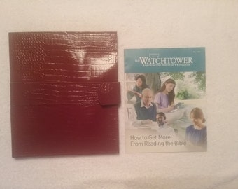 BFT style ministry organizer - maroon reptile pattern leather