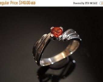ON SALE Fanta Orange Spessartite Garnet Ring Silver Garnet Ring Mandarin Garnet Orange Garnet Ring Engagement Ring January Birthstone