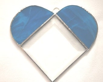 Stained Glass Beveled Heart