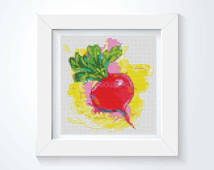 Mini Cross Stitch Kit, Embroidery Kit, Art Cross Stitch, Kitchen Mini Series The Beet (TAS132)