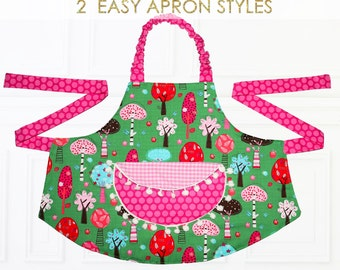 Apron Pattern, Child Apron Pattern, Kids Apron Pattern, PDF Pattern, Childrens Sewing Pattern, Girls Apron Pattern, Patterns for APRONS