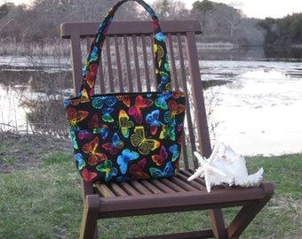 Butterfly Fabric Handbag