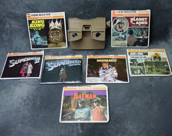 Sawyers View-Master *Action Pack* with Gaf Photo Reels Planet of the Apes, King Kong, James Bond, Superman, and More