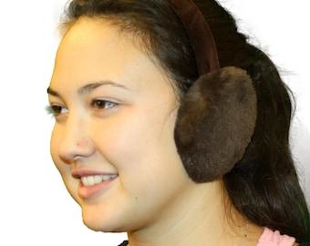 Glacier Wear Natural Sheared Beaver Fur Ear Muffs
