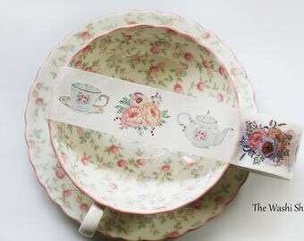 Afternoon Garden Tea Party Washi Tape(30mm x 5m)