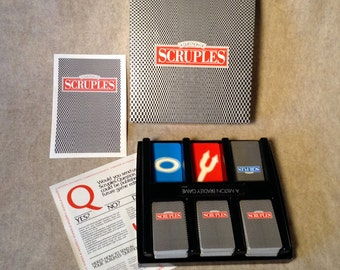 Vintage A Question Of Scruples, Milton Bradley Game 1986 edition, Complete.