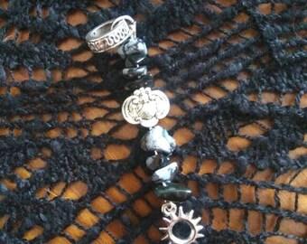 Black Rock Scarab Dread Bead