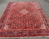 Large Persian Hosseinabad Tribal Rug -- 10 ft. 2 in. by 7 ft. 2 in.