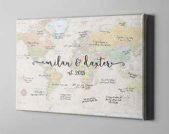 Map guest book etsy sale 50 off canvas guest book world map signature guest book travel themed gumiabroncs Choice Image