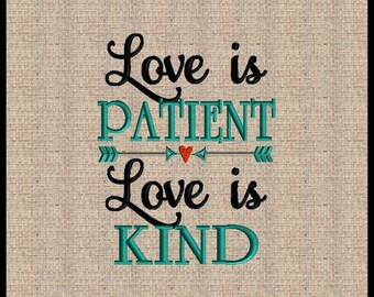 Love is Patient Love is Kind Embroidery Design Machine Embroidery Design Bible Scripture Verse Embroidery Design Arrow Embroidery Design