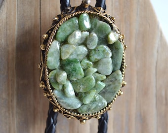 Nephrite Jade Bolo Tie Necklace