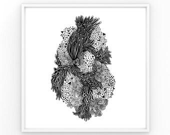 No. 1   Ink Drawing Print