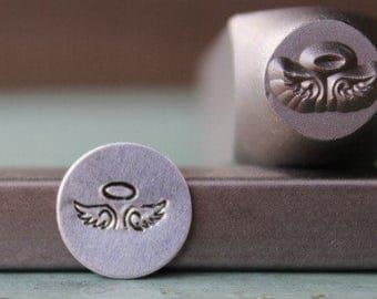 Brand New 9mm Fallen Angel Wings Metal Design Stamp - SGCH-136