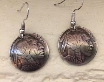 Buffalo Head Nickel Earrings