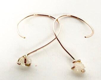 Spiral Geode ittyBitty™ Earrings in Rose Gold