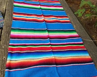 Blue Sarape Tablecloth or Runner