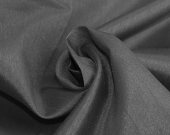 Gray Charcoal Shantung Mid-Weight Fabric, DIY Crafts, Decorations, Apparel - 1 Yard Style 3005