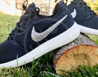 Rhinestone Nike Rosche Two, Blinged Running Shoe, Swarovski Crystal Footwear