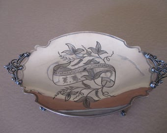 Antique Rockford Silver Plate Co. Calling Card Tray
