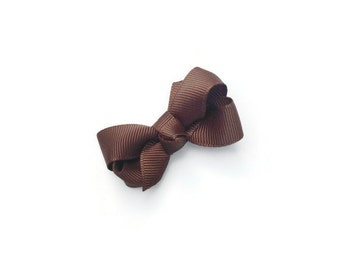"2"" Brown Boutique Hair Bow"