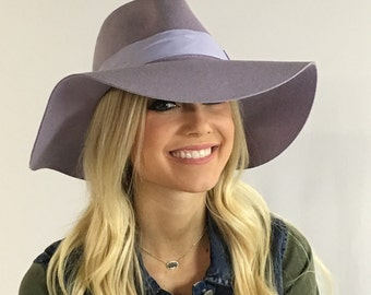 Winter Lilac Felt Fedora