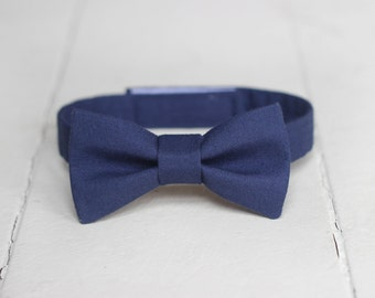 Boys Navy Blue Bow Tie -  Toddler Navy Bow Tie, Navy Blue Baby Bow Tie, Fall Bow Tie, Navy Blue Toddler Bow Tie, Toddler Boys Blue Bow Tie