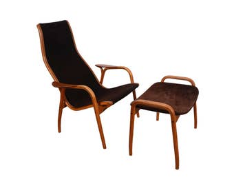 Lamino Chair and Ottoman by Swedese by Yngve Ekstrom Danish Modern
