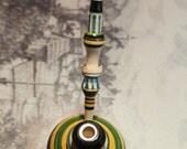 Bosnian VisokoWood Green Lula Cibuk Handmade Wooden Smoking Pipe Cigarette Clip Blunt Holder Balkan Yugoslavia Ethnic Folk Art Chibouk