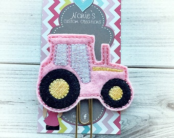 Tractor Paper Clip - Tractor Paperclip - Planner Accessories - Planner Feltie - Farm Paper Clip - Tractor Feltie