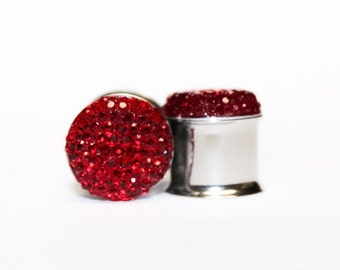 Clearance: Jewel-Like, Vintage Red Plugs, gauges   0g, 00g, 7/16, 1/2, 9/16