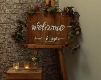 Rustic Wedding Sign - Welcome to our wedding
