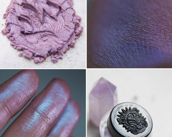 Eyeshadow: Stormcaller - MoonElf. Cold lilac matte eyeshadow by SIGIL inspired.