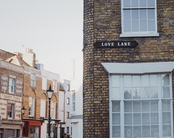 "Love Lane Street Sign Photography, Margate, Typography Photography,  8"" x 10"""