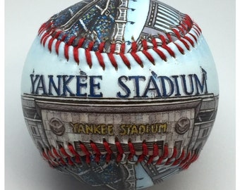Yankee Stadium Baseball, Yankees Fan Gift, NY Baseball (SS26)