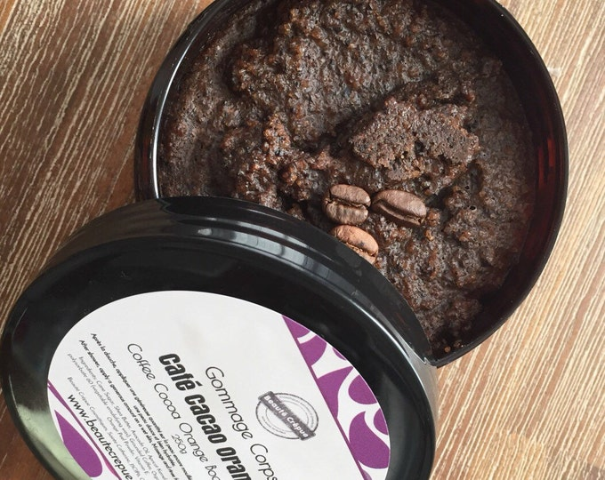 Cellulite Scrub, Body Scrub with Sugar, Coffee, Cocoa and Orange - Organic - 250g