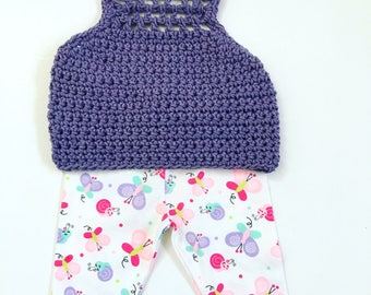 Purple Crop Tops, Toddlers Crochet Halter Tops, Hippie Bo Ho Crochet Halters, Bohemian Crop Tops, Girls Crochet Halter Tops, Crochet Halter