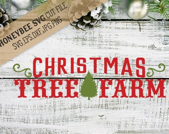 Christmas Tree Farm svg Christmas Tree svg Christmas decor svg Christmas svg Holiday svg Holiday decor svg Silhouette svg Cricut svg