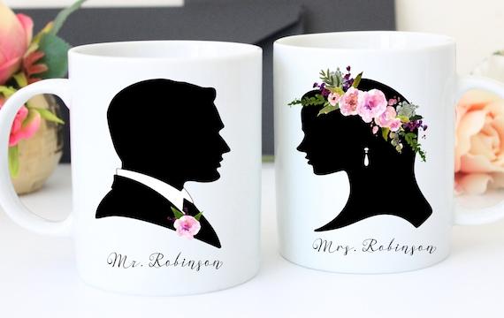 ... Mugs - Couples mug Set - Personalized Wedding Gift - Shower Gift