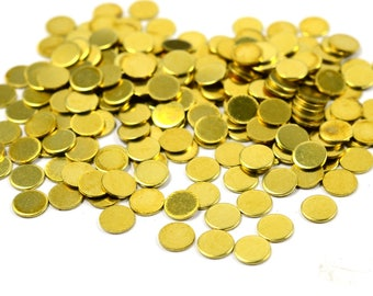 1000 Pcs. Raw Brass 4.5 mm Round without Hole  Disc Findings