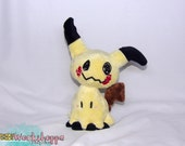 Pokemon inspired: Mimikyu 18-26cm (7-10in) tall minky handcrafted plush (filled with beans and polyfil)