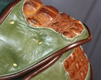 Olive and Cognac Arm Armor