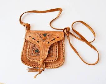 Mini handmade leather handbag