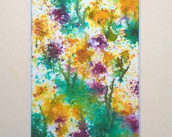 Flowers #2  (Mounted and framed) FREE UK POSTAGE