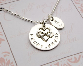 Chain INFINITY HEART 925 Silver engraving, name chain