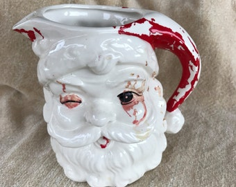 1961 Christmas SANTA PITCHER, Inarco, 1961