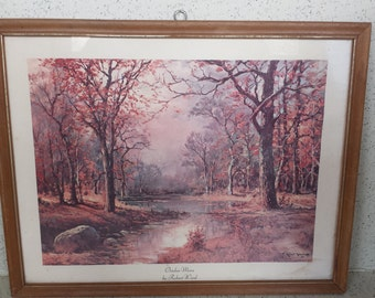 """Vintage Robert Wood Litho """"October Morn"""""""