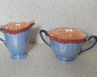 Noritake Lusterware Cream and Sugar