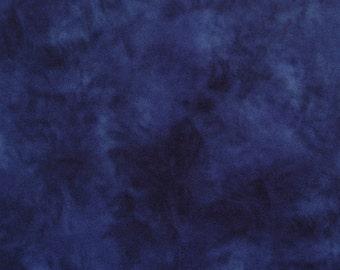 Variegated Navy Blue Polar Fleece - One Yard